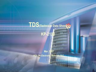 TDS (Technical Data Sheet) KP-2100