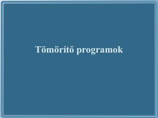 T m r to programok