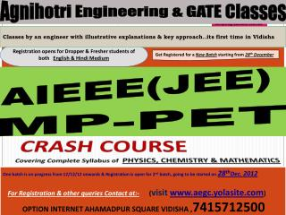 Agnihotri  Engineering & GATE Classes