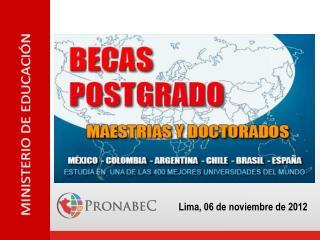 Lima, 06 de noviembre de 2012
