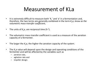Measurement of KLa