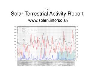 The Solar Terrestrial Activity Report