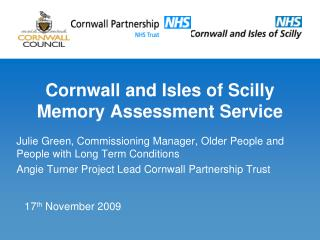 Cornwall and Isles of Scilly Memory Assessment Service