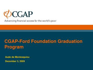 CGAP-Ford Foundation Graduation Program