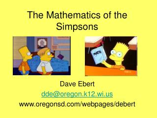 The Mathematics of the Simpsons