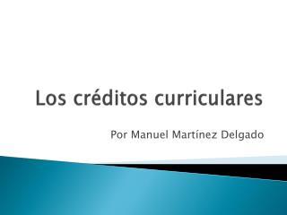 Los créditos curriculares