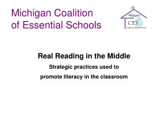 Real Reading in the Middle Strategic practices used to  promote literacy in the classroom