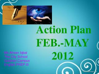Action Plan FEB.-MAY 2012