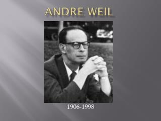 Andre Weil