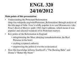 ENGL 320  24/10/2012