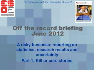 Off the record briefing  June 2012