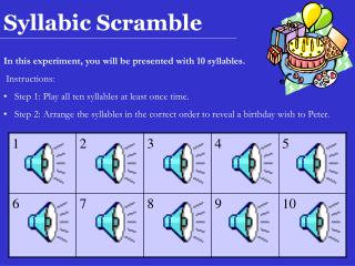 Syllabic Scramble