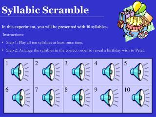 Syllabic Scramble