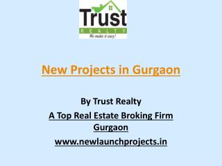 New Projects in Gurgaon