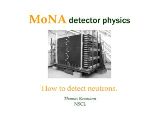 MoNA detector physics