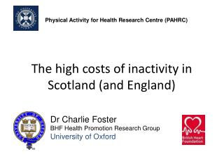 The high costs of inactivity in Scotland (and England)