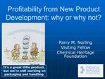 Profitability from New Product Development: why or why not