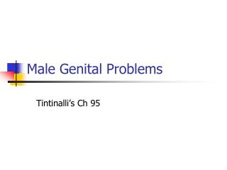 Male Genital Problems