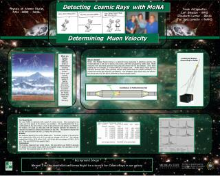 Detecting  Cosmic Rays  with MoNA