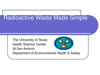 Radioactive Waste Made Simple