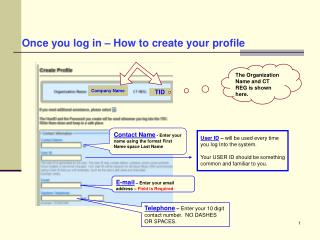 Once you log in – How to create your profile