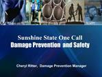 Sunshine State One Call  Damage Prevention  and Safety