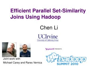 Efficient Parallel Set-Similarity Joins Using Hadoop