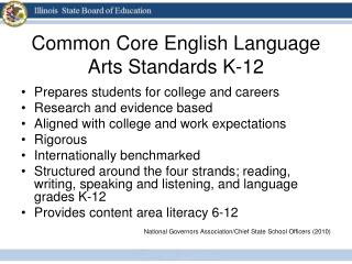 Common Core English Language Arts Standards K-12