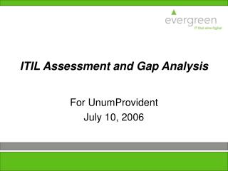ITIL Assessment and Gap Analysis