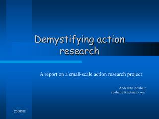 Demystifying action research
