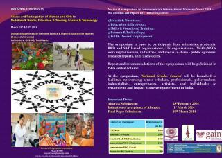 Contact  Symposium Secretariat:  0422-2433408  sayani_wsc@avinuty.ac