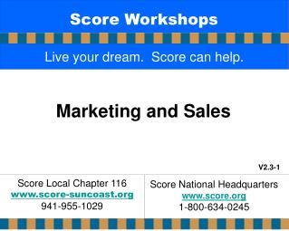 Score Workshops