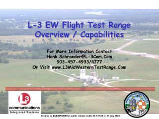L-3 EW Flight Test Range  Overview