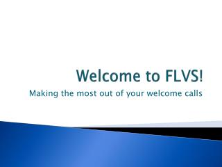 Welcome to FLVS!