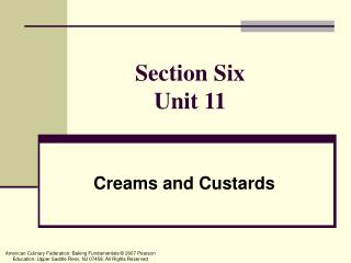 Section Six Unit 11