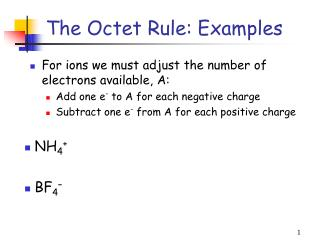 The Octet Rule: Examples