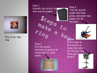 S teps to make a key-ring .