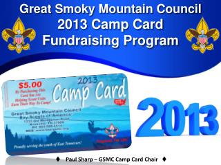 Great Smoky Mountain Council 2013 Camp Card  Fundraising Program