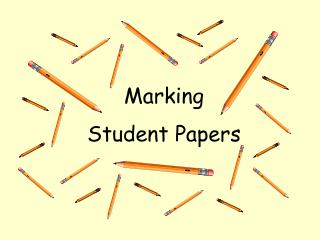 Marking Student Papers