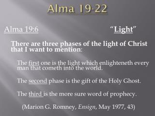 Alma 19-22