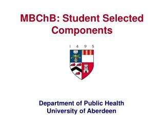 MBChB: Student Selected Components