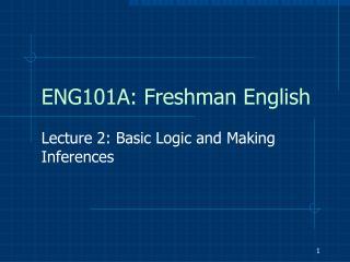 ENG101A: Freshman English