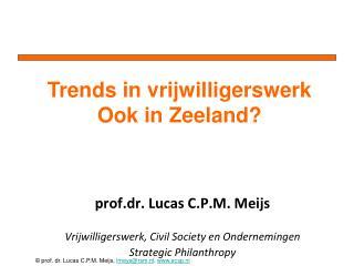 prof.dr . Lucas C.P.M.  Meijs Vrijwilligerswerk,  Civil  Society en Ondernemingen