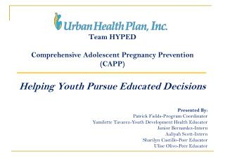 Team  HYPED Comprehensive Adolescent Pregnancy Prevention ( CAPP)