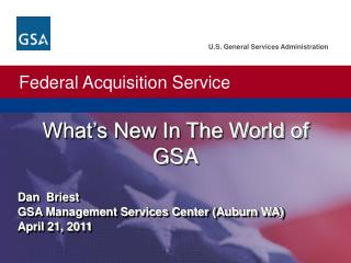 What�s New In The World of GSA