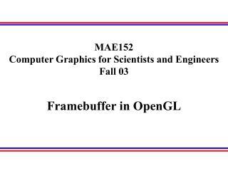 Framebuffer in OpenGL