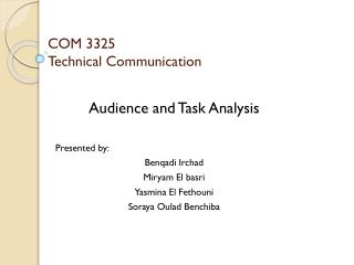 COM 3325 Technical Communication