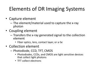 Elements of DR Imaging Systems