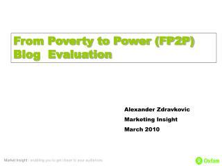 Alexander Zdravkovic Marketing Insight March 2010