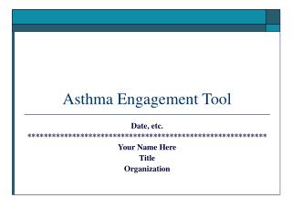 Asthma Engagement Tool